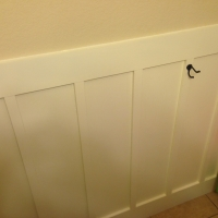 Wainscoting in Half Bathroom - After