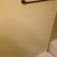 Wainscoting in Half Bathroom - Before