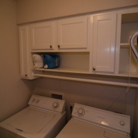 Installed Cabinets in Laundry Room