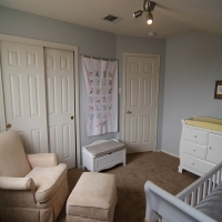 Painted Bedroom / Installed Light Fixture