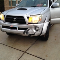 Front End Damage - 2007 Toyota Tacoma - Before