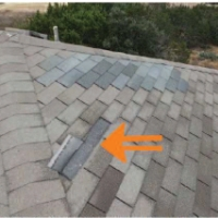 Roof Repair to Address Home Inspection - Before